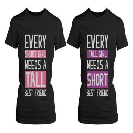 Best Friend Shirts - Short and Tall Best Friends BFF Matching (Tall And Short Best Friends)