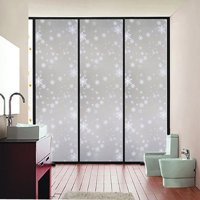 """1Pcs 17.72""""x78.74"""" Waterproof Window Glass Film Sticker Frosted Privacy Window Film Self Static Cling For Home and Office"""