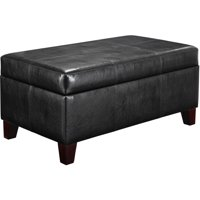 Dorel Living Rectangular Storage Ottoman, Multiple Colors