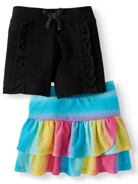 Skort and Ruffle Short, 2-Pack (Little Girls & Big Girls)