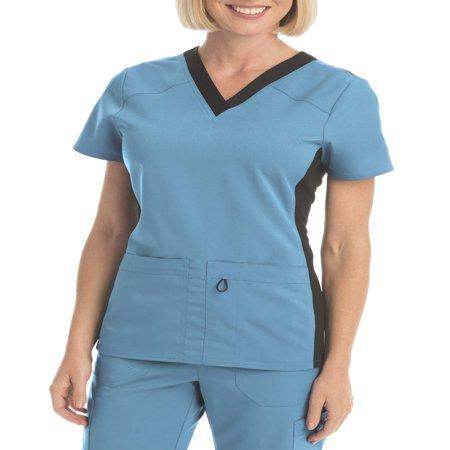 Scrubstar Women's Premium Collection Flexible V-Neck Scrub Top](Minion Scrub Top)