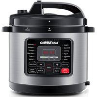 GoWISE USA 10-Quart 12-in-1 Electric Programmable Pressure Cooker (Copper)