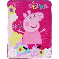 """Peppa Pig Peppas Picnic 46"""" x 60"""" Kids Plush Throw"""