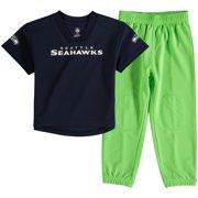 Seattle Seahawks Toddler Fan Gear Lil  Field Pant Set - College Navy Neon  Green 4b12172f1