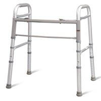 Carex Folding Walker For Seniors - Adult Walker - Portable Medical Walker With Adjustable Height, 30-37 Inches