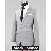 d49f5507f2f Black n Bianco Boys  Signature Light Gray Slim Suit Complete Set
