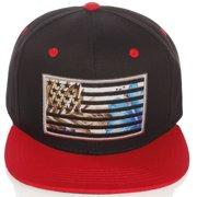 83c5eccf40ff5 US Cities USA American Flag Print Flat Bill Adjustable Snapback Hat Cap -