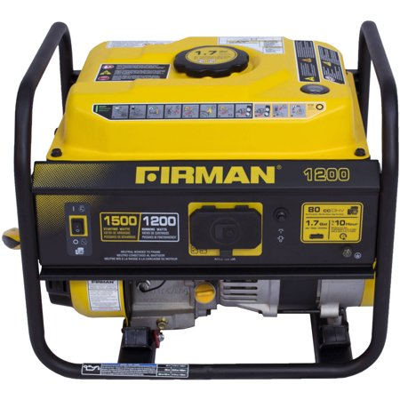 Firman P01201 1500/1200 Watt Gas Recoil Start Generator, cETL, CARB