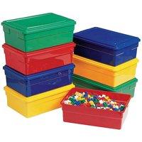 """Childcraft Storage Box with Lid, 16""""L x 11""""W x 6""""H"""