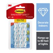 Command Clear Decorating Clips Value Pack, 40 Clips, 48 Strips