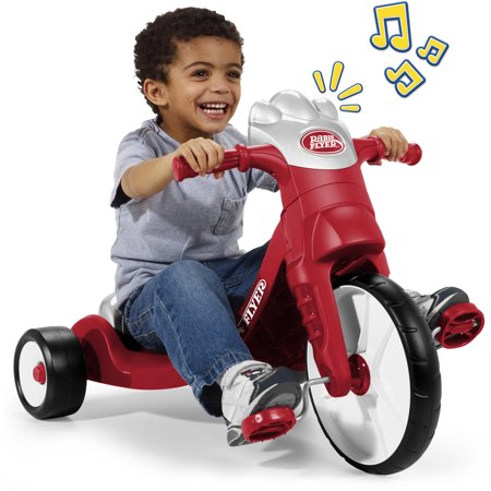 Infant Tricycle - Radio Flyer, My First Big Flyer with Lights & Sounds, Chopper Tricycle, Red
