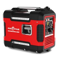 Rockpals 2000Watt Super Quiet Portable Generator Gas Powered Inverter Generator With 9 Hours Run time, CARB Complaint With Eco-Mode Generator For Emergency /Home / Travel