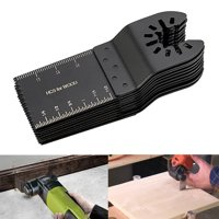 TSV 10 Wood/Metal Professional Oscillating Multi Tool Quick Release Saw Blades for Fein Multimaster, Dremel Multi-Max, Dewalt, Craftsman, Ridgid, Makita, Milwaukee, Rockwell, Ryobi, and More