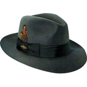 6ad8a51070a Stacy Adams Men s Cannery Row Wool Brim Hat XL Gray