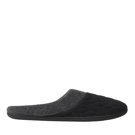 DF by DEARFOAMS Womans Quilted Fleece Clog Slipper
