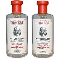 2 Pack - Thayers Witch Hazel Aloe Vera Toner, Rose Petal, 12 fl oz