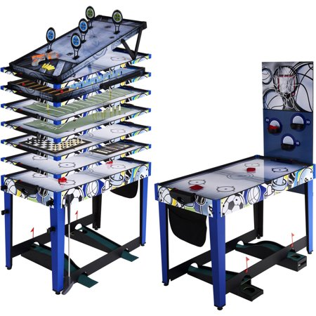 - MD Sports 48 Inch 13-In-1 Multi-Game Combo Table, Accessories included, Blue