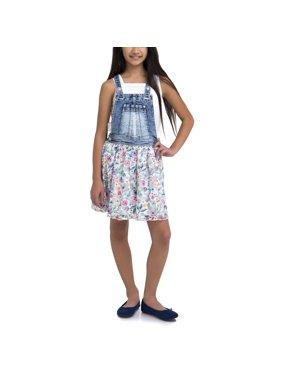 Girls' Denim Skirtall Dress
