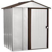 Newburgh 5 x 4 ft. Steel Storage Shed Coffee/Eggshell