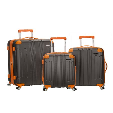 Upright Blue Large Rolling Luggage (Rockland Luggage Sonic 3 Piece Hardside Spinner Luggage)