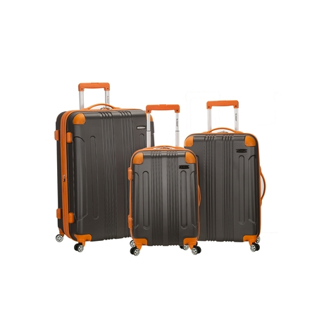 - Rockland Luggage Sonic 3 Piece Hardside Spinner Luggage Set