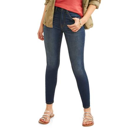 Stylish High Rise (Time and Tru Women's Core High Rise Skinny)
