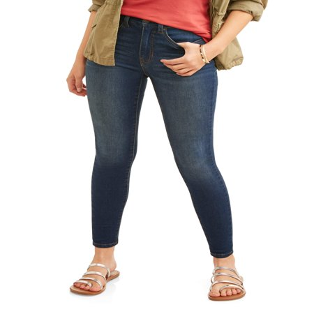 Bootleg Trouser Jeans (Time and Tru Women's Core High Rise Skinny Jean )