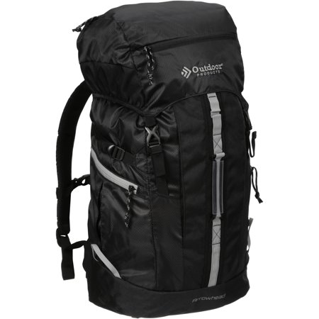 Outdoor Products Arrowhead 8.0 Internal Frame Pack Camping Backpack, Black/Griffin
