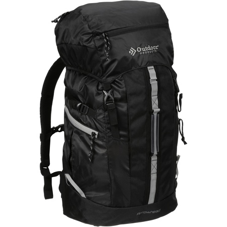 Outdoor Products Arrowhead 8.0 Internal Frame Pack Camping Backpack, Black/Griffin Black Moon Fishing Backpack