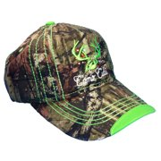 Camo Cutie Cap Womens Mossy Oak Camo Cap with Green Trim and logo