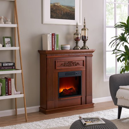 Electric Cherry (Bold Flame 38 inch Wall/Corner Electric Fireplace in Dark Cherry )