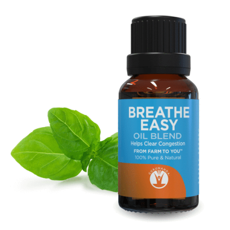 Guru Nanda Breathe Easy Essential Oil Blend, 0.5