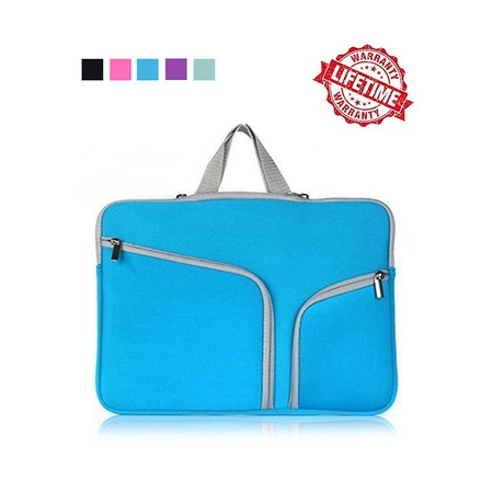 IClover 11 Inch Waterproof Thickest Protective Slim Laptop Case for Macbook Apple Samsung Chromebook HP Acer Lenovo Portable Laptop Sleeve Liner Package Notebook Case Soft Sleeve Bag Case Blue ()