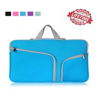 IClover 11 Inch Waterproof Thickest Protective Slim Laptop Case for Macbook Apple Samsung Chromebook HP Acer Lenovo Portable Laptop Sleeve Liner Package Notebook Case Soft Sleeve Bag Case Blue