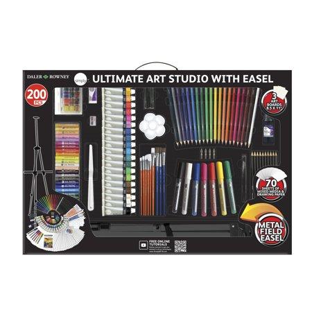 Daler Rowney 200 Piece Simply Ultimate Studio Art Set Art Kit With