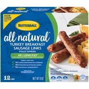 Butterball Natural Inspirations Turkey Breakfast Sausage Links, 8 Oz.