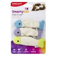 SmartyKat Fish Flop Crinkle Catnip Cat Toy, 3 Count