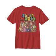 051d2c13 nintendo little boys super mario character group shot graphic t-shirt, red,  ys