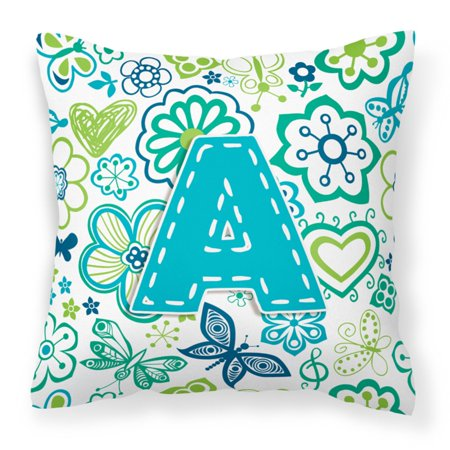 Carolines Treasures Flowers and Butterflies Monogram Decorative Outdoor Pillow](Cheap Monogram Stuff)