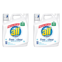 (2 pack) all with Stainlifters Free Clear Liquid Laundry Detergent, 123 Loads, 184.5 Oz
