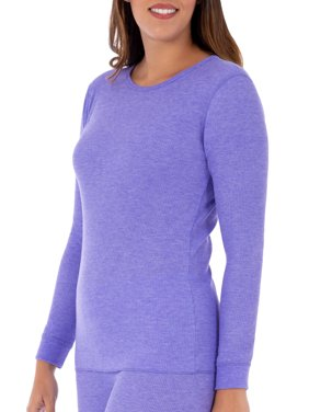 Women's and Women's Plus Waffle Thermal Underwear Crew Top