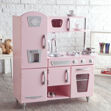 Pink Pig Kitchen (KidKraft Vintage Wooden Play Kitchen in)