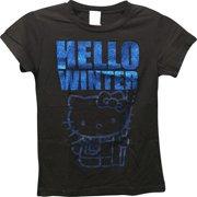 b9ca31ec2 Hello Kitty Girls Glitter T-Shirt Small Black