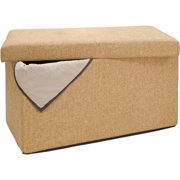 Excellent Linen Ottomans Beatyapartments Chair Design Images Beatyapartmentscom