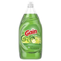 (2 Pack) Gain Ultra Dishwashing Liquid Dish Soap, Original, 38 fl oz