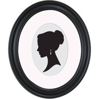 Mainstays 8x10 Matted to 5x7 Holmgren Oval Picture Frame, Black