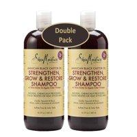 Shea Moisture Jamaican Black Castor Oil Strengthen, Grow & Restore 16.3 oz Shampoo, w/ Shea Butter & Apple Cider Vinegar 13 oz. – Sulfate Free & Color Safe - Value Pack of 2 Each