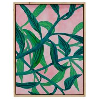 """Palm Springs Pink Vine Natural Wood 32""""x42"""" Framed Canvas by Drew Barrymore Flower Home"""