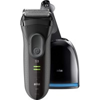 Braun Series 3 ProSkin 3050cc Electric Shaver for Men / Rechargeable Electric Razor with Clean&Charge System, Black