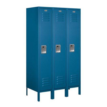 Metal Locker (Salsbury Industries 1 Tier 3 Wide School Locker )